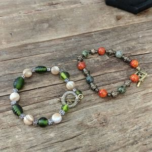 Earthbound lot of two bracelets